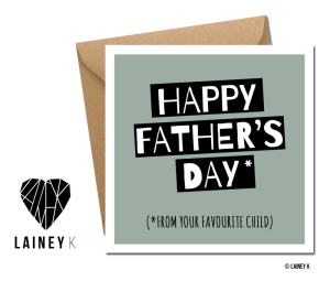 LAINEY K Father's Day cards