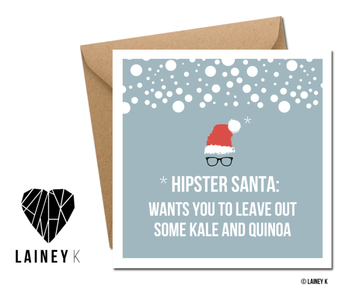 Hipster Santa_Copyright © LAINEY K copy